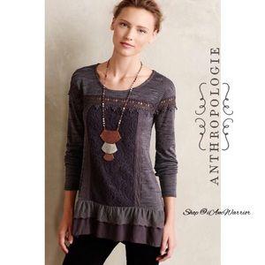 Anthropologie {Meadow Rue} crochet flutter top